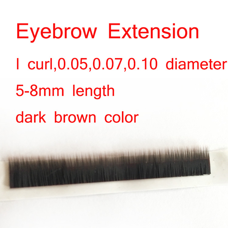 Top quality private label soft silk eyebrow extensions ES82